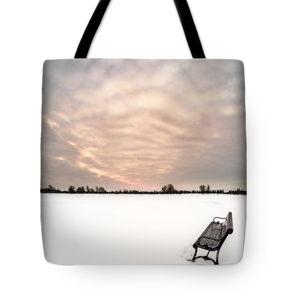 Delaware Park Winter Solace Tote Bag by Chris Bordeleau