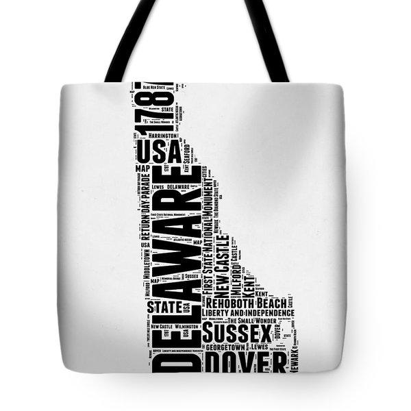 Delaware Word Cloud 2 Tote Bag