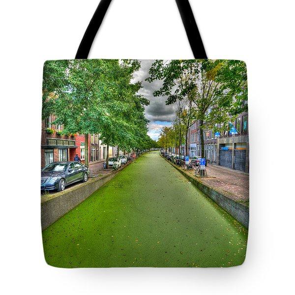 Delft Canals Tote Bag