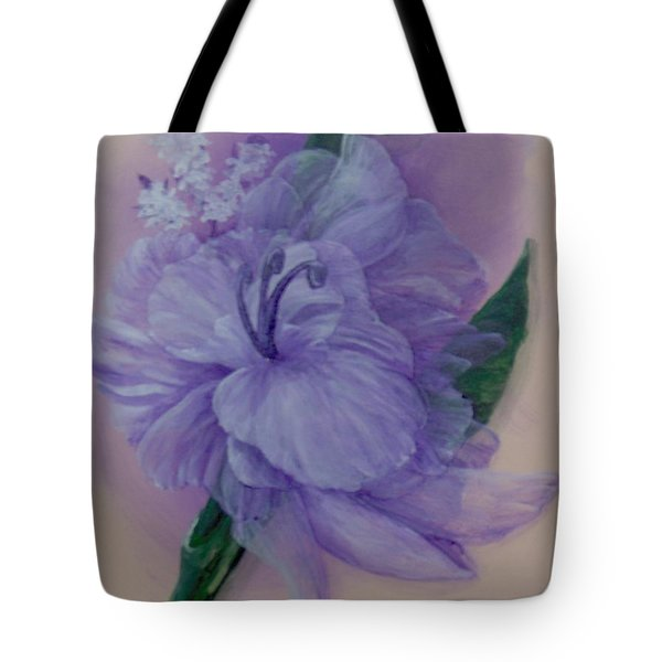 Tote Bag featuring the painting Delicacy by Saundra Johnson