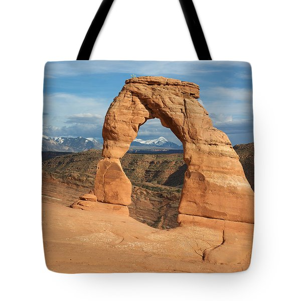 Tote Bag featuring the photograph Delicate Arch  by Aaron Spong
