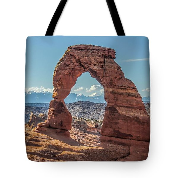 Delicate Arch In Early Morning Tote Bag