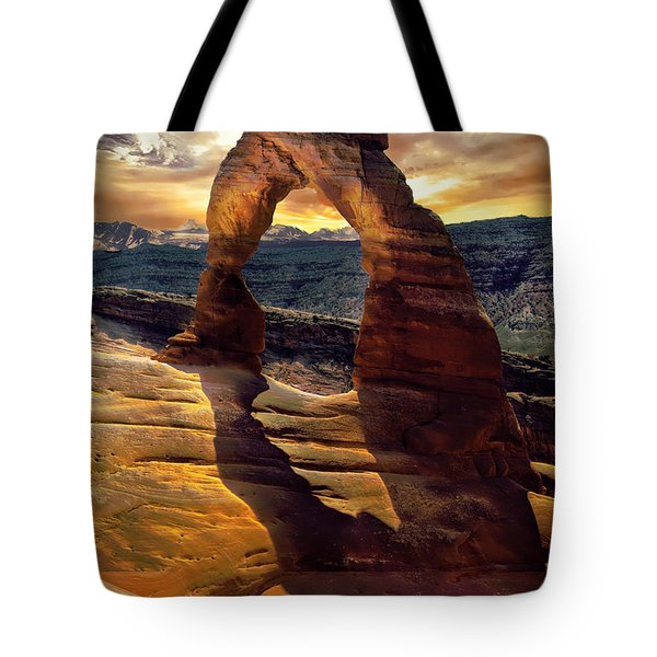 Delicate Arch Tote Bag by James Bethanis
