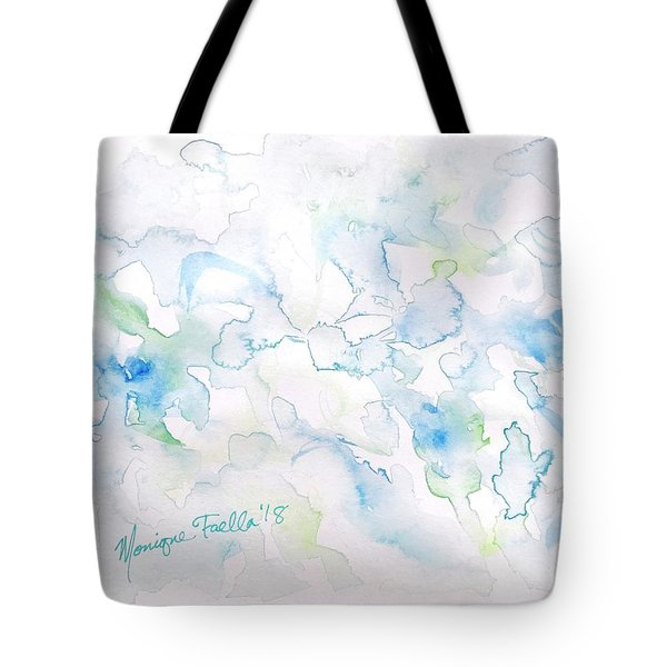 Tote Bag featuring the painting Delicate Elegance by Monique Faella