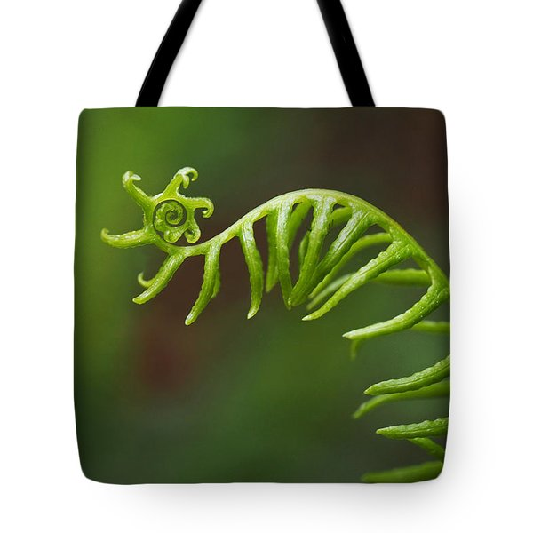 Delicate Fern Frond Spiral Tote Bag