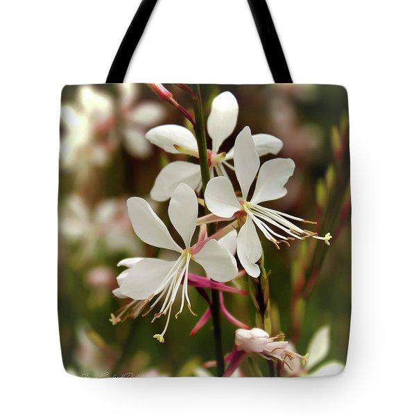 Delicate Gaura Flowers Tote Bag by Joann Copeland-Paul