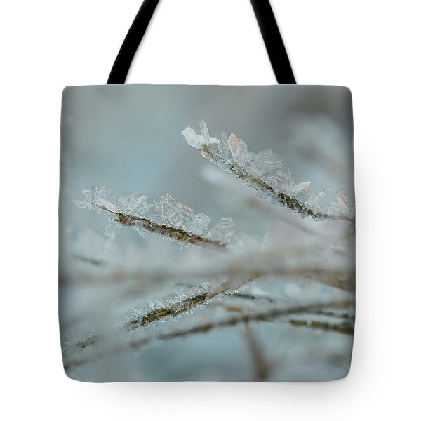 Delicate Morning Frost  Tote Bag