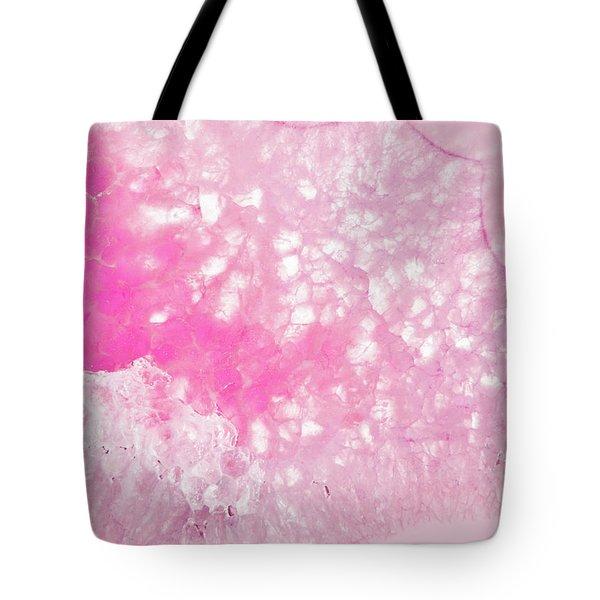 Delicate Pink Agate Tote Bag
