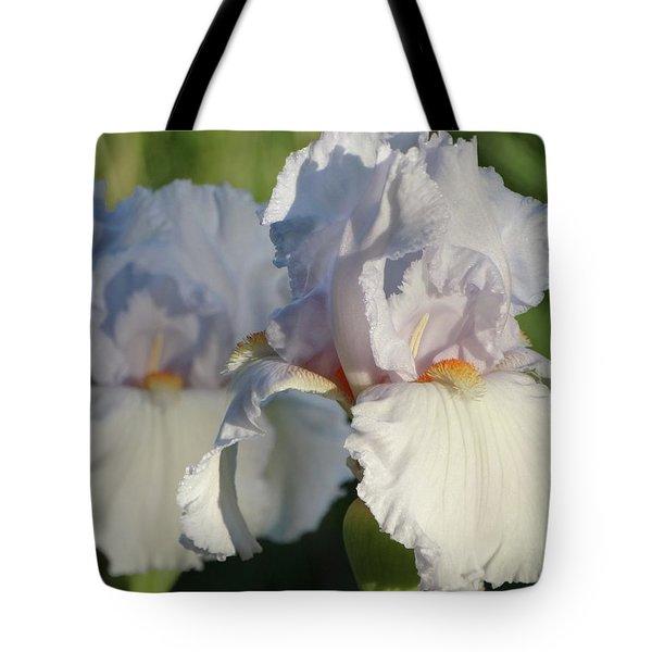 Delicate White Iris Tote Bag
