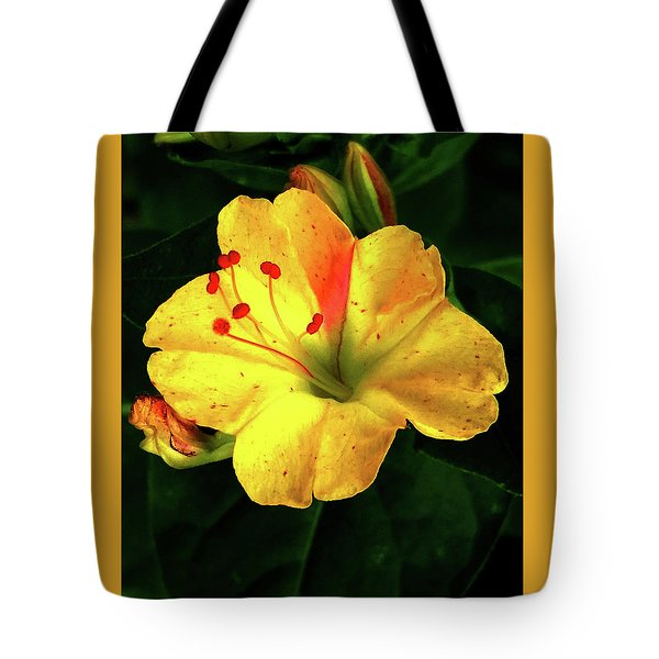 Delicate Yellow Flower Tote Bag