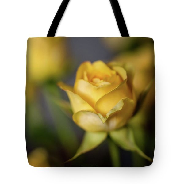 Delicate Yellow Rose  Tote Bag by Terry DeLuco