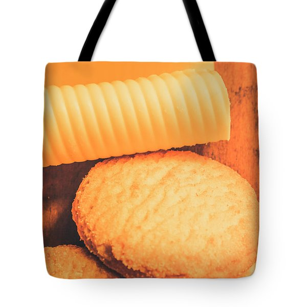 Delicious Cookies With Piece Of Butter Tote Bag