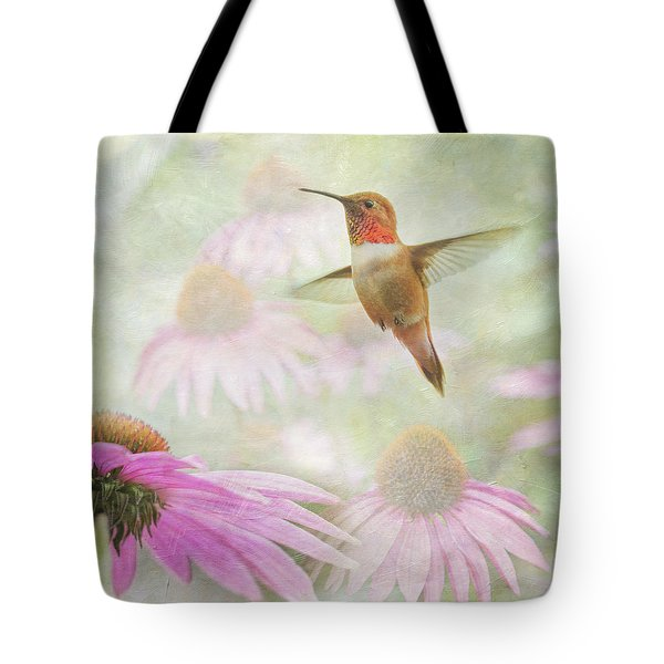 Tote Bag featuring the photograph Delight In A Flower Garden by Angie Vogel