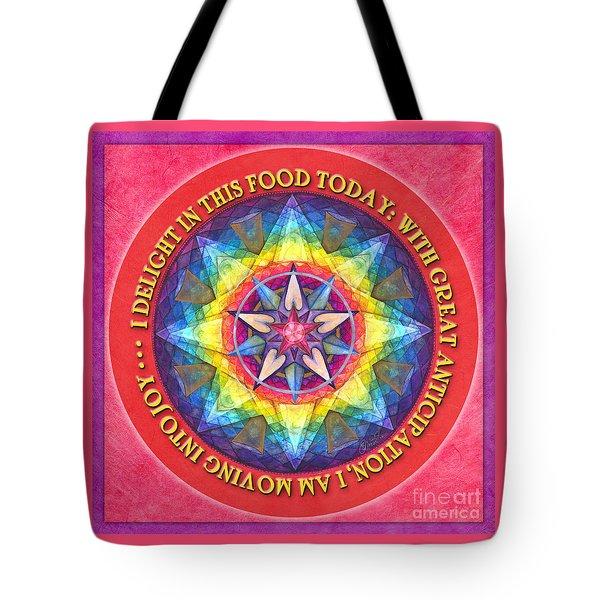 Delight In This Mandala Prayer Tote Bag