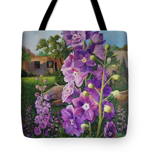 Delightful Delphiniums Tote Bag
