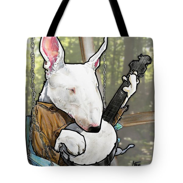 Deliverance Bull Terrier Caricature Art Print Tote Bag