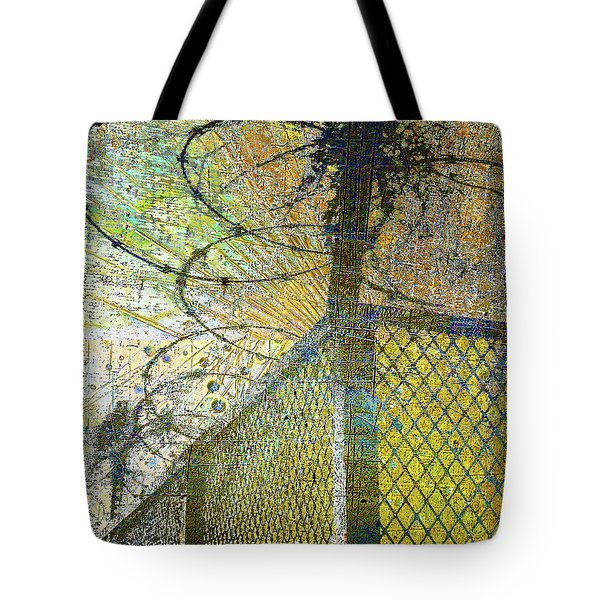 Tote Bag featuring the mixed media Deliverance by Tony Rubino