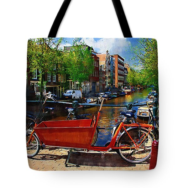 Delivery Bike Tote Bag by Tom Reynen