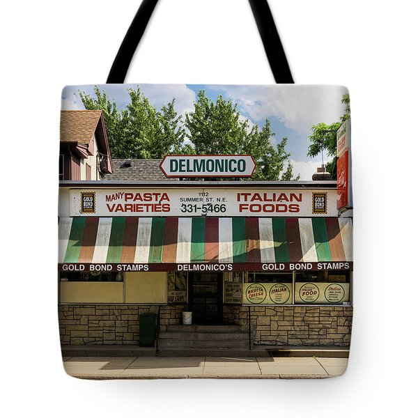 Tote Bag featuring the photograph Delmonico's Italian Market by Mike Evangelist