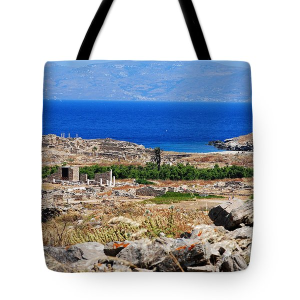 Delos Island View Of Agean Tote Bag