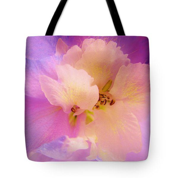 Delphinium Abstract Tote Bag