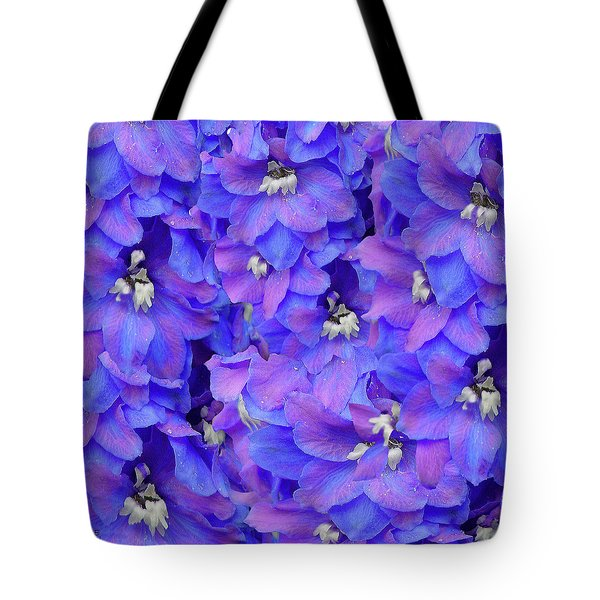 Delphinium Blue Tote Bag by Shirley Heyn