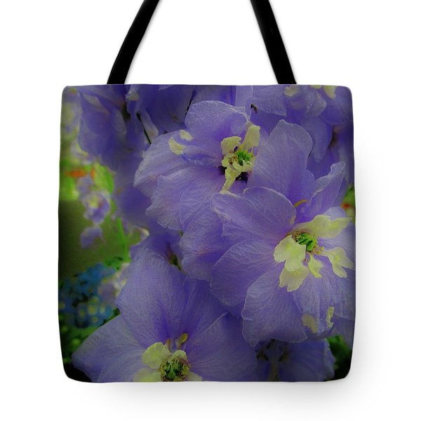 Delphinium Blues Tote Bag