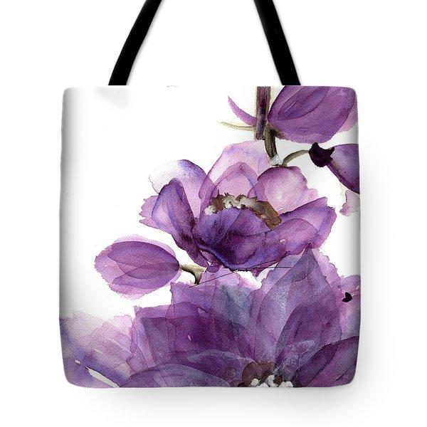 Delphinium Tote Bag by Dawn Derman