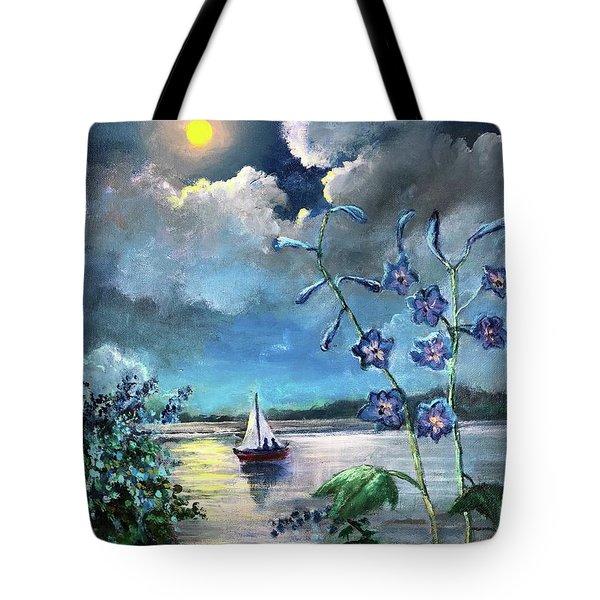 Delphinium Dreams Tote Bag