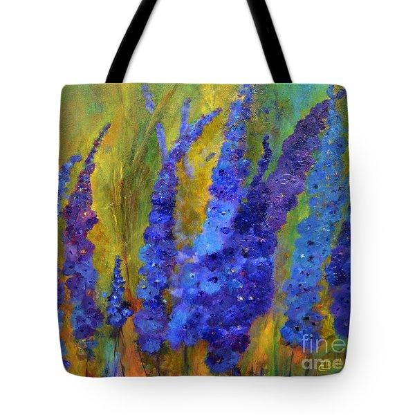 Delphiniums Tote Bag