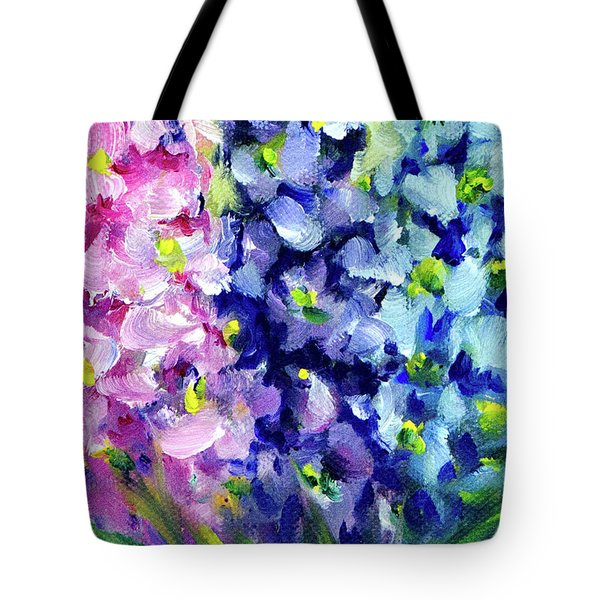 Delphiniums Mixed Tote Bag