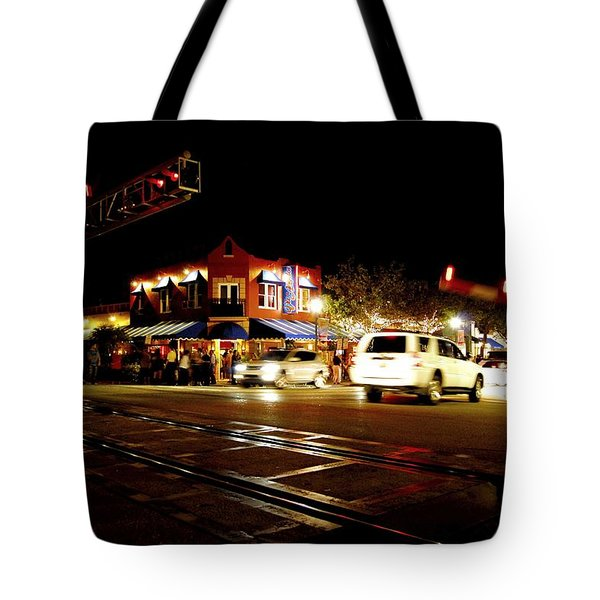 Delray Beach Railroad Crossing Tote Bag