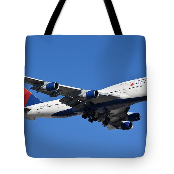 Delta Boeing 747-451 N662us Phoenix Sky Harbor January 12 2015 Tote Bag