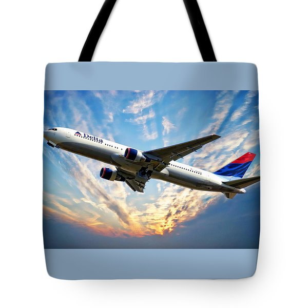 Delta Passenger Plane Tote Bag