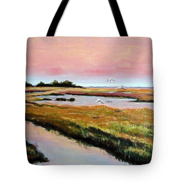 Delta Sunrise Tote Bag