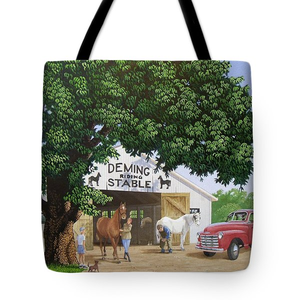 Deming Stables Tote Bag