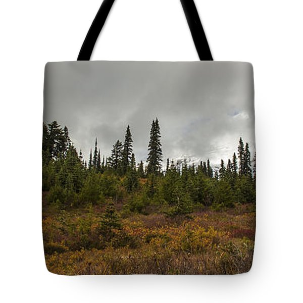 Mt. Rainier - Head In The Clouds Tote Bag by Chuck Flewelling