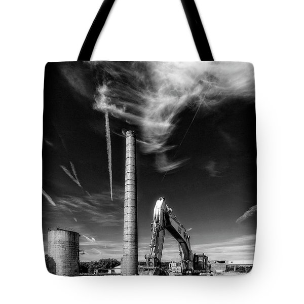 Tote Bag featuring the photograph Demolition Sky by Alan Raasch