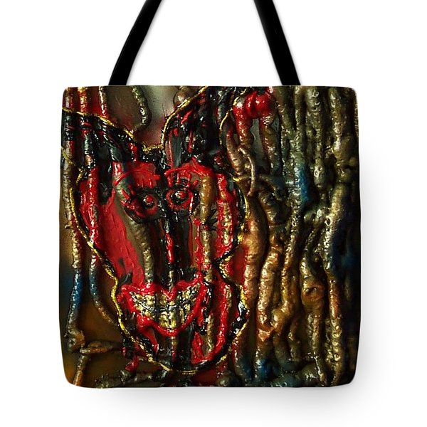 Tote Bag featuring the painting Demon Inside by Lisa Piper