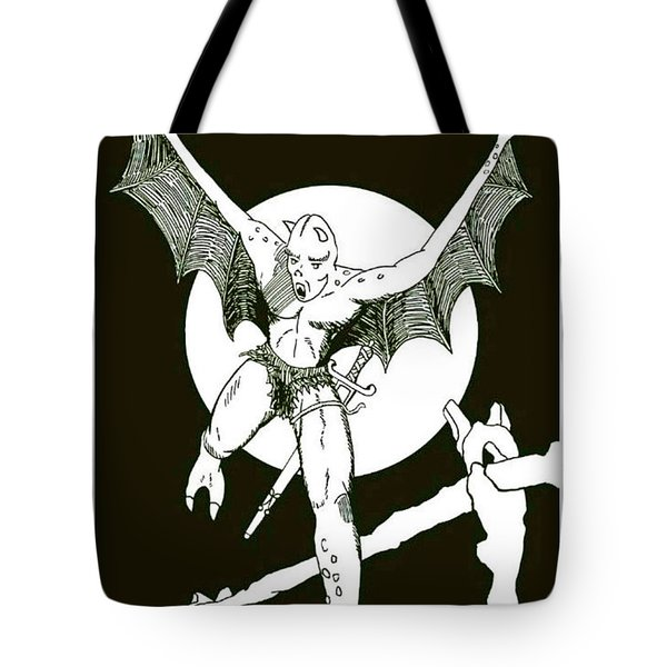 Demon Warrior Tote Bag