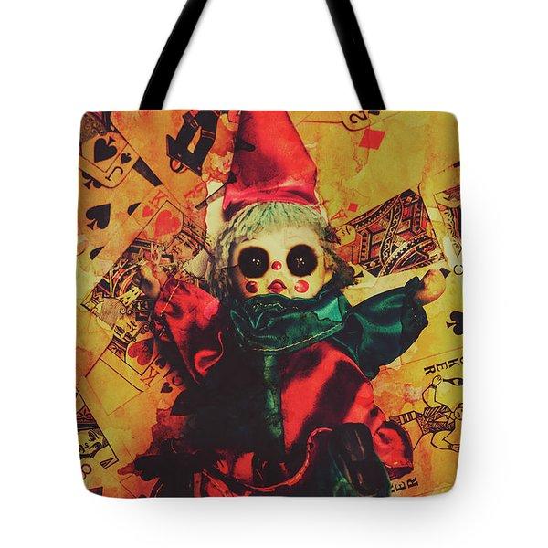 Demonic Possessed Joker Doll Tote Bag