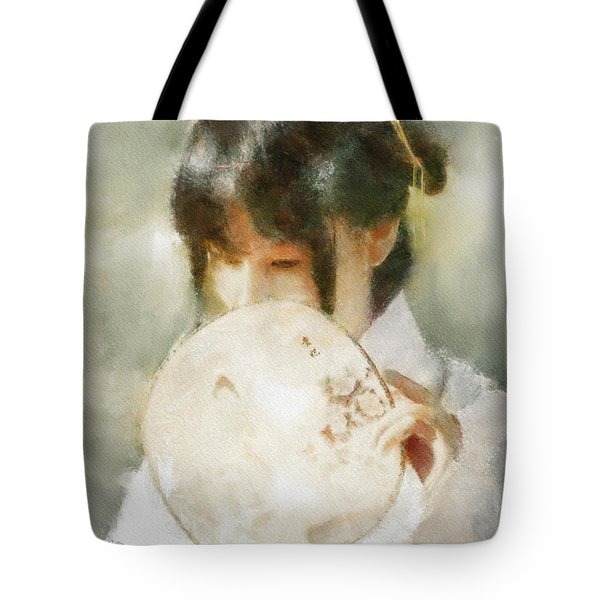 Tote Bag featuring the digital art Demure by Greg Collins
