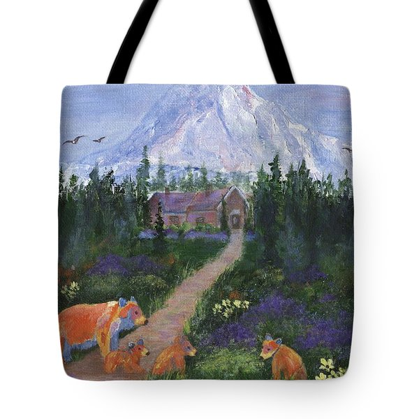 Tote Bag featuring the painting Denali by Jamie Frier