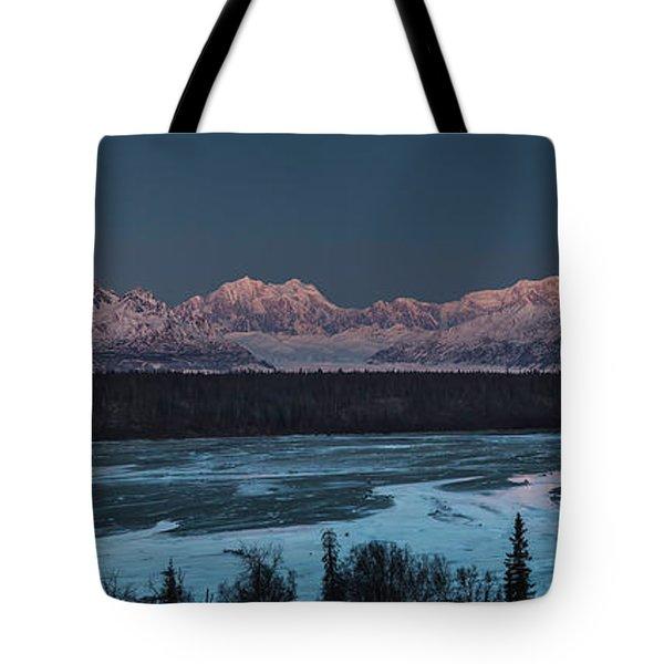 Denali Morning Blue Tote Bag