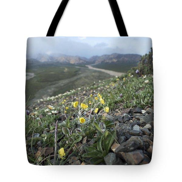 Denali Wildflowers Tote Bag