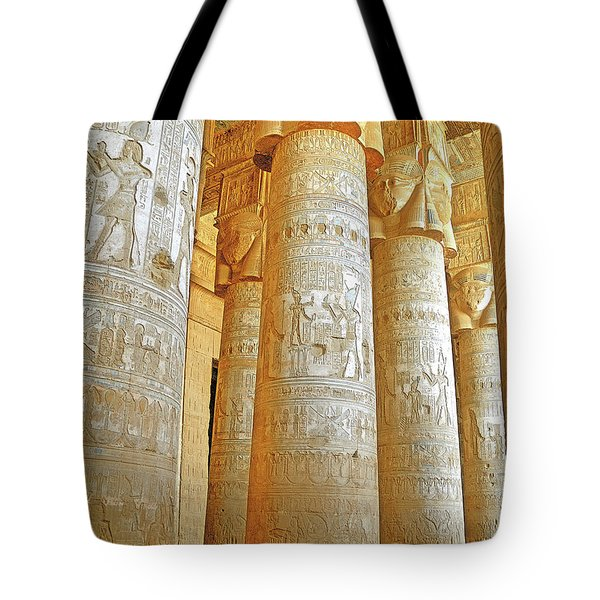 Dendera Temple Tote Bag by Nigel Fletcher-Jones