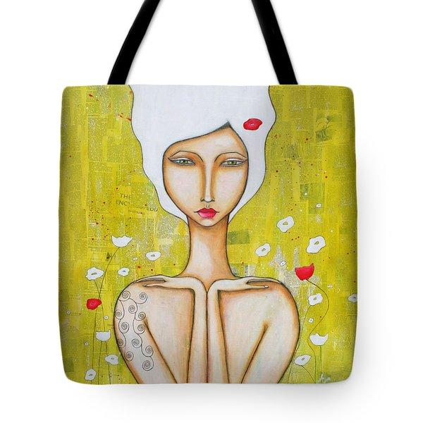 Tote Bag featuring the mixed media Denham by Natalie Briney
