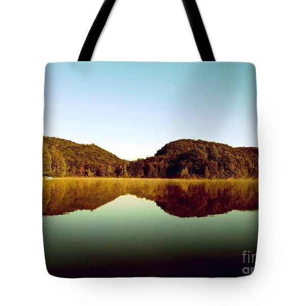 Tote Bag featuring the photograph Denholm Lake by France Laliberte