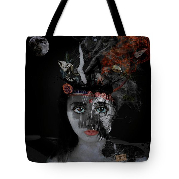 Tote Bag featuring the digital art Denial's Child by Nola Lee Kelsey