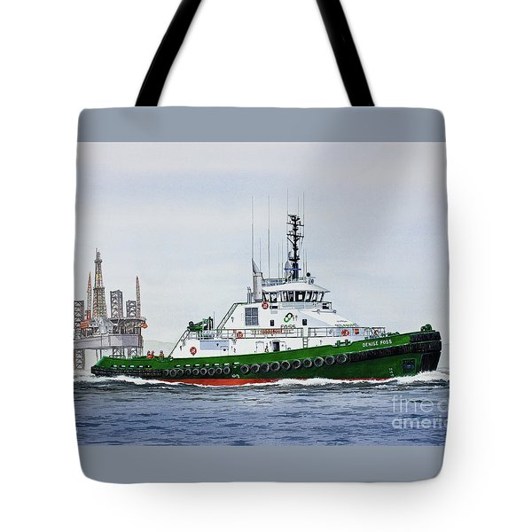Tote Bag featuring the painting Denise Foss by James Williamson